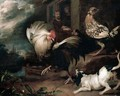 A Cock Baiting Scene Outside A Cottage - Simon Pietersz. Verelst