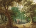 Wooded Landscape With A Horseman On A Path - (after) Jasper Van Der Laanen
