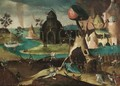 Hell Scene With The Fountain Of Life - (after) Hieronymus Bosch