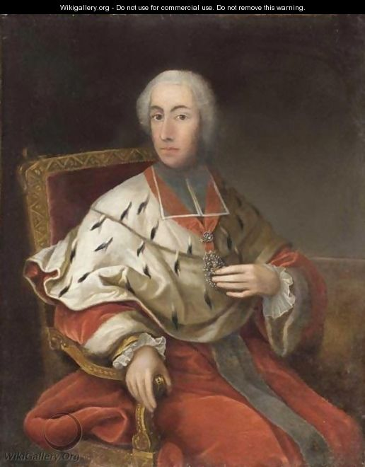 Portrait Of Cardinal Clement Augustus Von Wittelsbach, Archbishop Elector Of Cologne (1723-61) - (after) Georg Desmarees