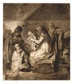 Adoration Of The Magi - (after) Harmenszoon Van Rijn Rembrandt