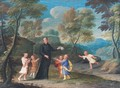 A Jesuit Missionary Preaching To Manchurian Children In An Extensive Landscape - Flemish School