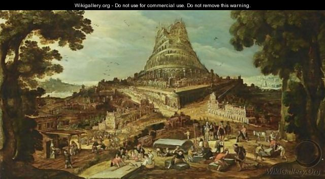 The Building Of The Tower Of Babel - (after) Hendrick Van Cleve