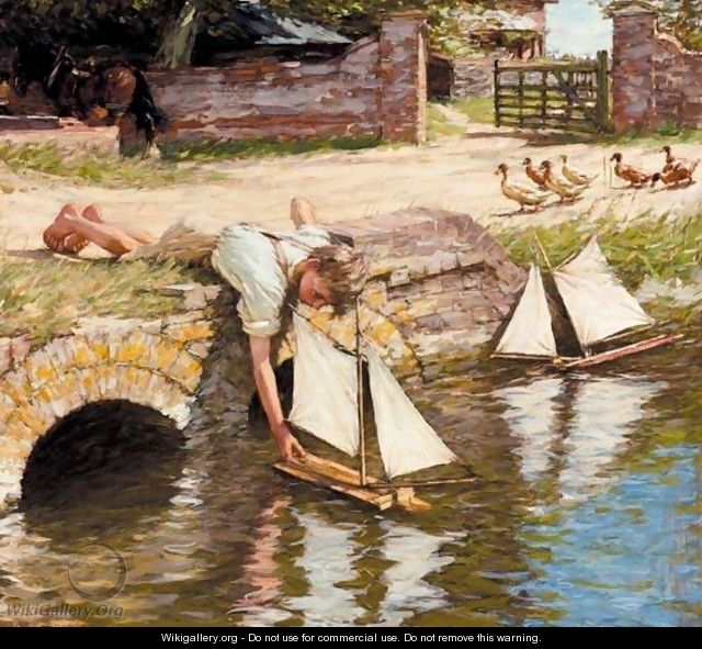 The Farm Pond - Henry Herbert La Thangue