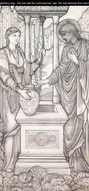 Christ And The Woman Of Samaria At The Well 2 - Sir Edward Coley Burne-Jones