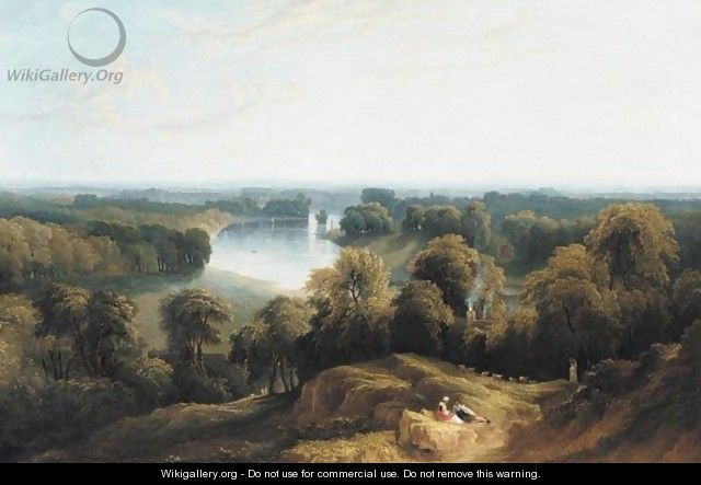 A View Of The Thames From Richmond Hill - John Martin