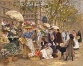 Mercado De Flores En Paris (The Flower Market, Paris) - Francisco Miralles Galup