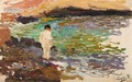 Nino En Las Rocas (Boy On The Rocks) - Joaquin Sorolla y Bastida