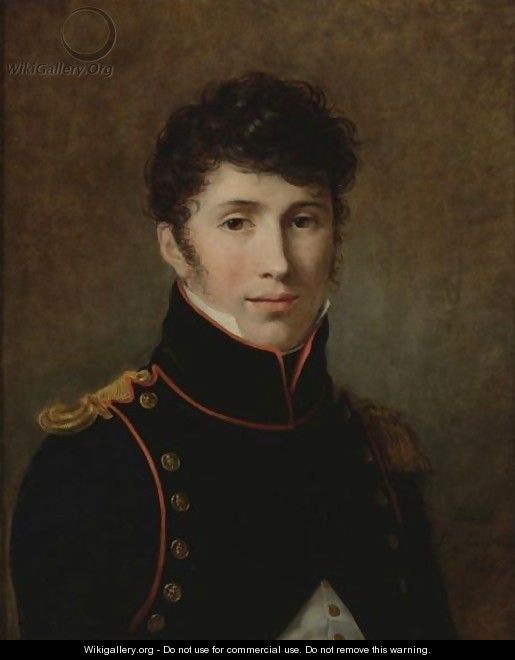 Portrait Of A Young Officer - Constance Marie Charpentier