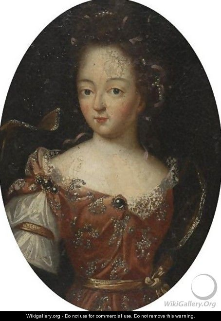 Portrait Of A Young Girl - English School