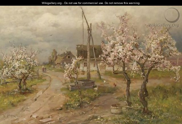 Landscape With Trees In Blossom - (after) Iulii Iul