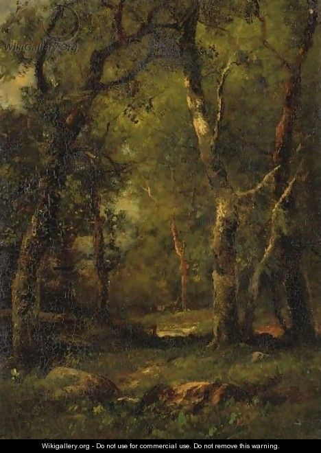 A Sunny Day In The Woods - Charles Linford