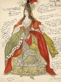 Costume Design For The Production Prologue La Reine - Lev Samoilovich Bakst