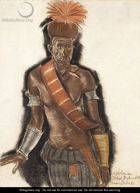 Chief Bafouatete From The Babali Tribe - Alexander Evgenievich Yakovlev
