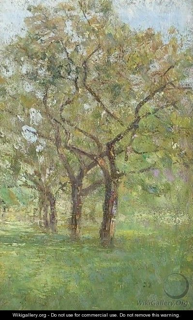 Apple Trees In The Orchard At Jupille - Ivan Pavlovich Pokhitonov