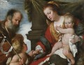 Holy Family With The Infant Baptist - Bernardo Strozzi