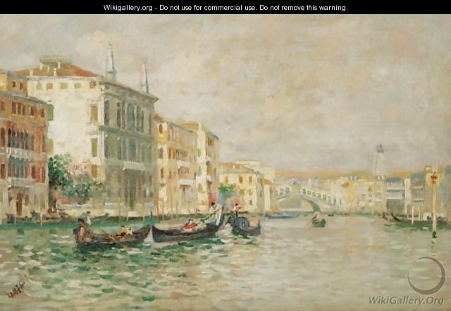 The Grand Canal With The Rialto - (after) Luigi Lanza
