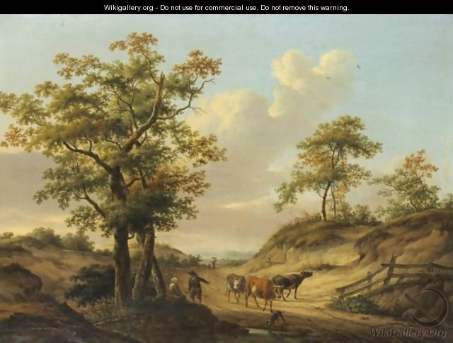 Cows On A Path - Dionys van Dongen