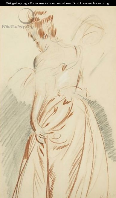 Study Of A Woman Seen From The Back - Paul Cesar Helleu