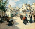 The Concarneau Harbor And Market Day At Audierne - Fernand Marie Eugene Legout-Gerard