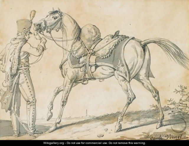 Hussar And His Horse - Carle Vernet