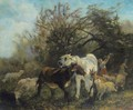 Child And Sheep In The Country - Giuseppe Palizzi
