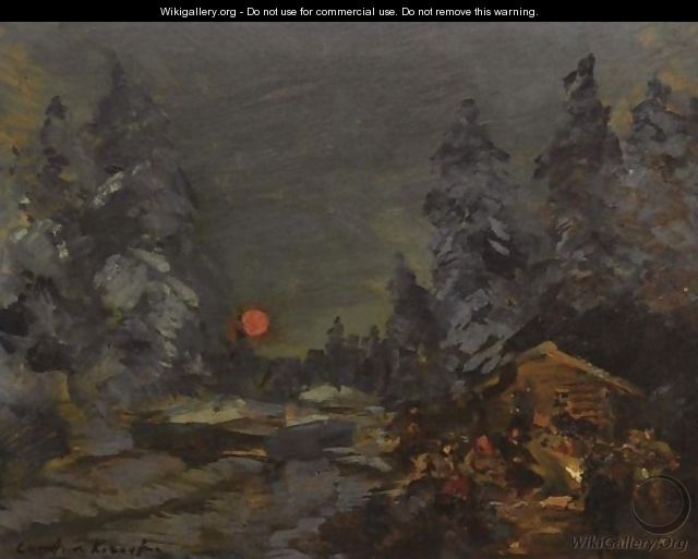 The Camp Fire - Konstantin Alexeievitch Korovin