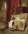 Die Kleine Kunstkennerin (The Young Connoisseur) - August Friedrich Siegert