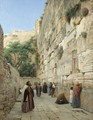 The Wailing Wall, Jerusalem 2 - Gustave Bauernfeind