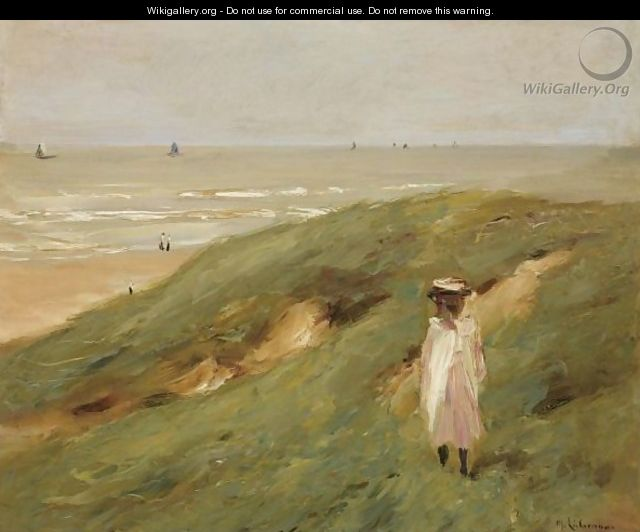 Dune Bei Nordwijk Mit Kind (Dune Near Nordwijk With Child) - Max Liebermann