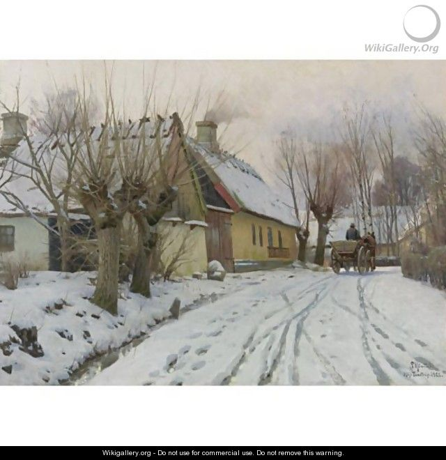 A Winter Day, Hoje Taastrup - Peder Monsted