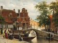A View Of Franeker With The 'zakkendragershuisje' - Cornelis Springer