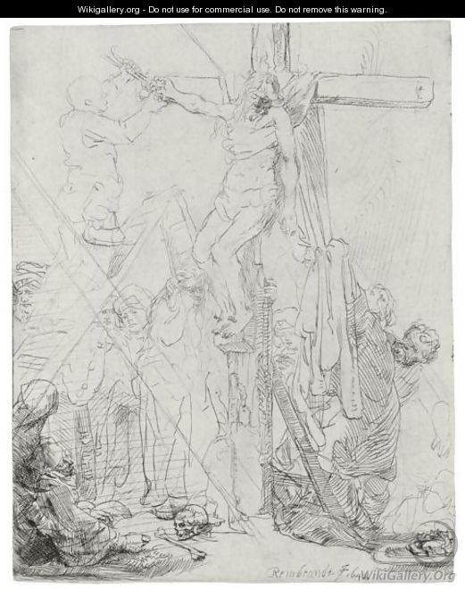 Descent From The Cross A Sketch - Rembrandt Van Rijn