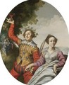 A Courting Couple In A Landscape - (after) Claude Deruet