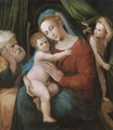 The Holy Family With The Infant Saint John The Baptist - Bolognese School