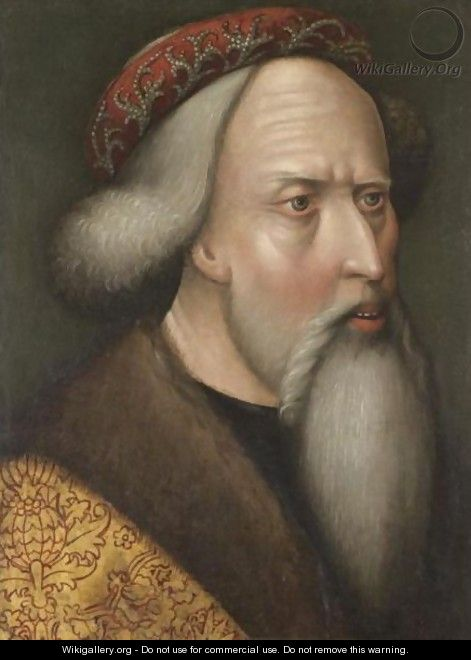 Portrait Of A Man, Bust Length, Facing Right, Said To Be The Holy Roman Emperor Sigismund (1368-1437) - South German School