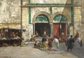 Outside The Mosque - Victor Pierre Huguet