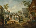 A Fair With A Quack Pulling Teeth In A Village - (after) Egbert Van, The Younger Heemskerck