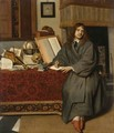 A Portrait Of The Pharmacist Dr Ysbrand Ysbrandsz. (1634-35-1705) - Cornelis De Man