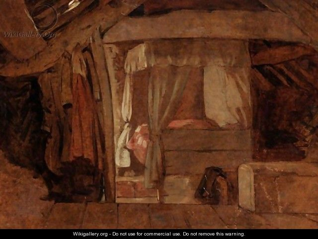 The Bed In The Attic - (after) John Linnell