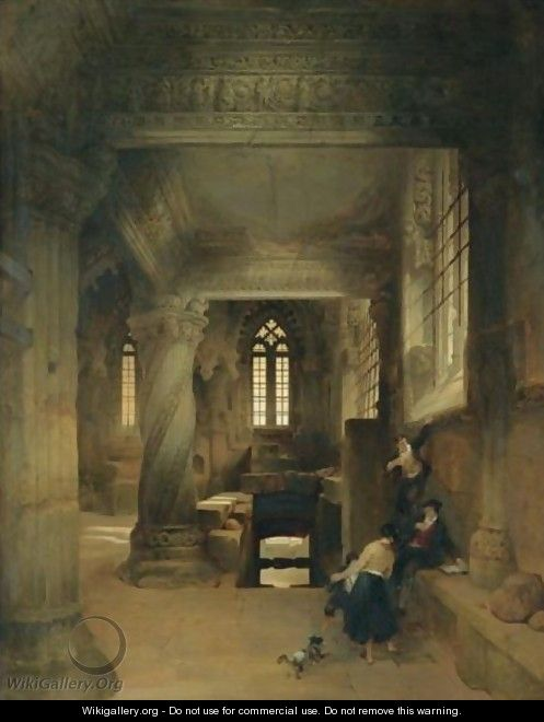 Interior Of Rosslyn Chapel - David Roberts