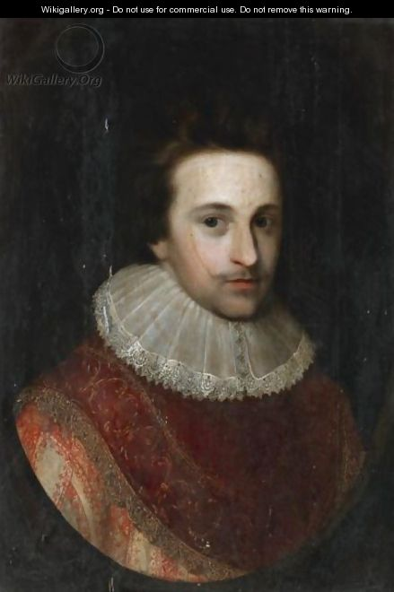Portrait Of Sir John Nicholas Martyn - (after) Johnson, Cornelius I