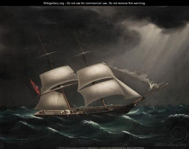 The Brig Alligator, Commanded By S. J. Sinden, Passing The Lamock Islands Off The East Coast Of China - Anglo-Chinese School