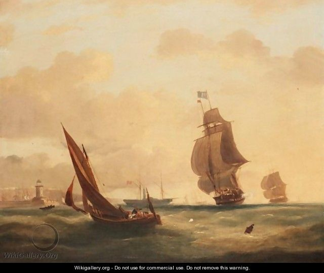 Shipping Of The Coast - (after) Frederick Calvert