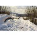 Snowy Path In Langsith - Peder Monsted