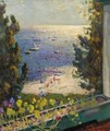 Terrace Overlooking The Beach, Long Island - Arnold Borisovich Lakhovsky