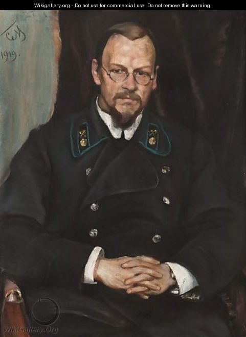 Portrait Of A Naval Officer - Sergei Vasilievich Malyutin