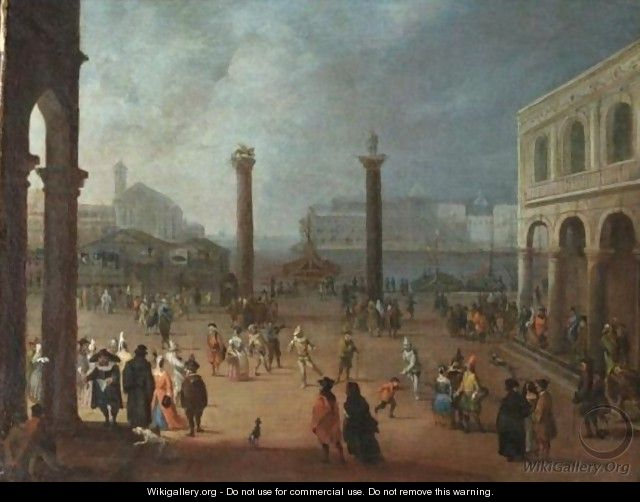 Venezia, Carnevale In Piazza San Marco - (after) Joseph, The Younger Heintz