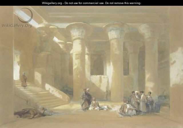 The Grand Portico Of The Temple At Esneh, Egypt - David Roberts