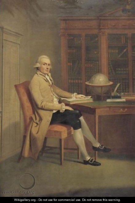 Portrait Of A Gentleman In A Library - (after) David Allan